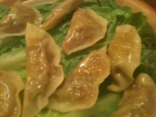 Steamed Asian Veggie Dumplings  (1/2)