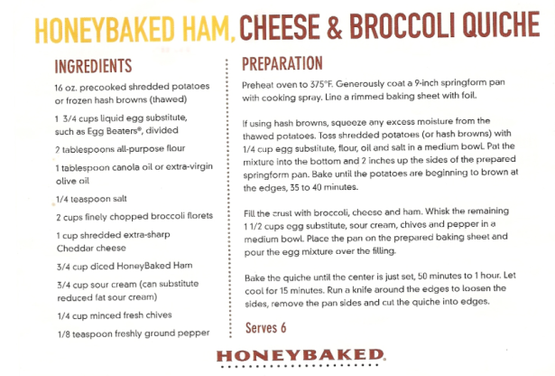 healthy ham quiche recipe